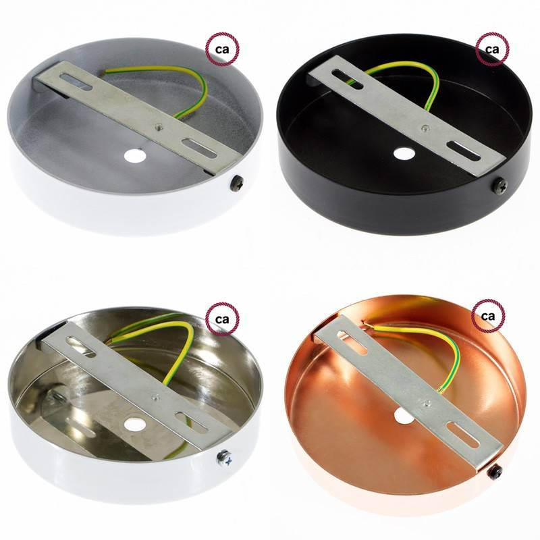 Pendel singolo, lampada sospensione cavo tessile Cotone Grigio Verde TC63