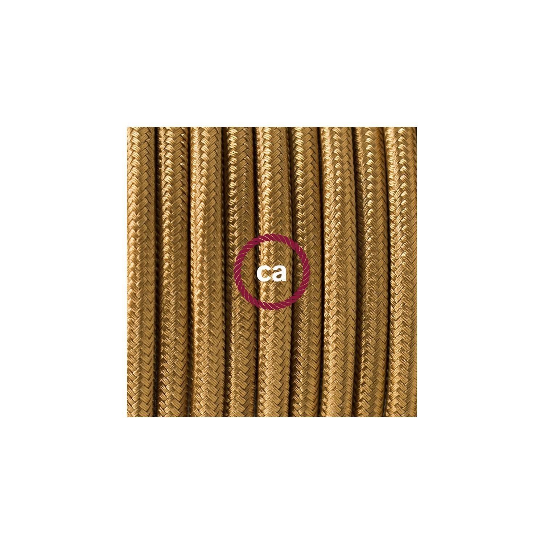 Pendel per paralume, lampada sospensione cavo tessile Effetto Seta Oro RM05