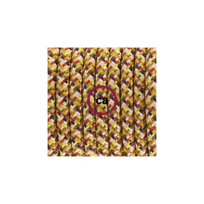 Pendel per paralume, lampada sospensione cavo tessile Pixel Arancione RX01