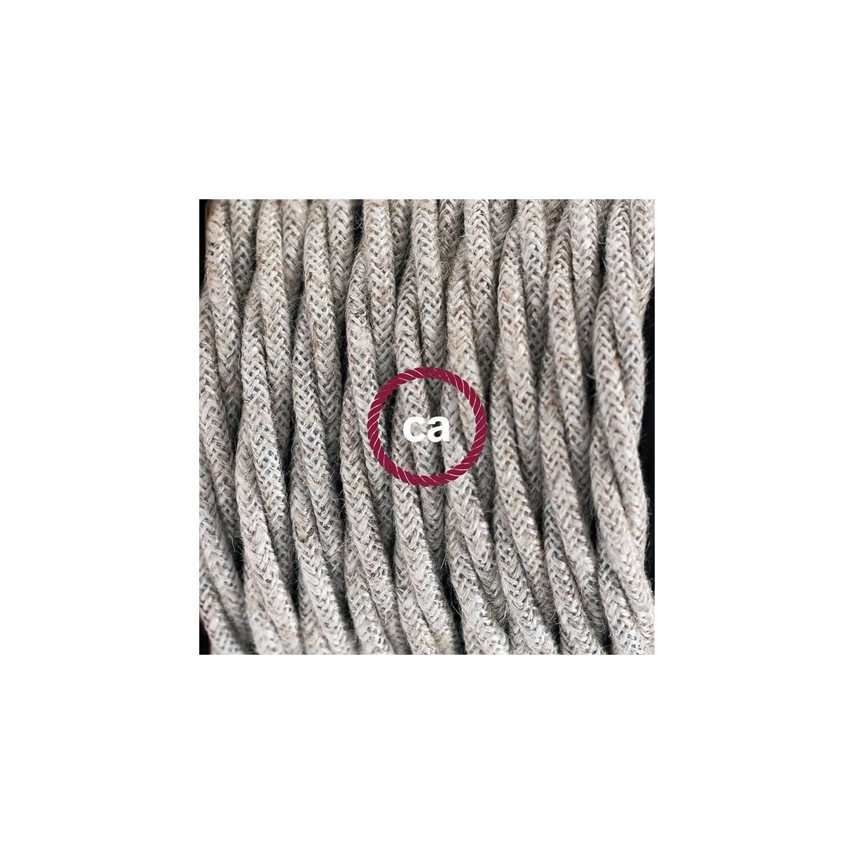 Pendel per paralume, lampada sospensione cavo tessile Lino Naturale Neutro TN01