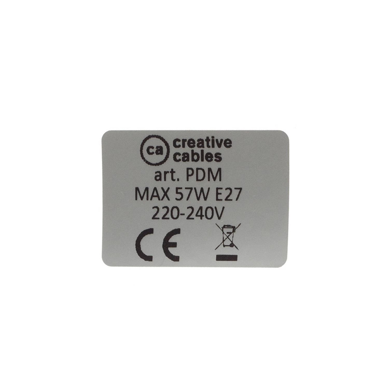 Pendel singolo, lampada sospensione cavo tessile ZigZag Blu Steward RD75