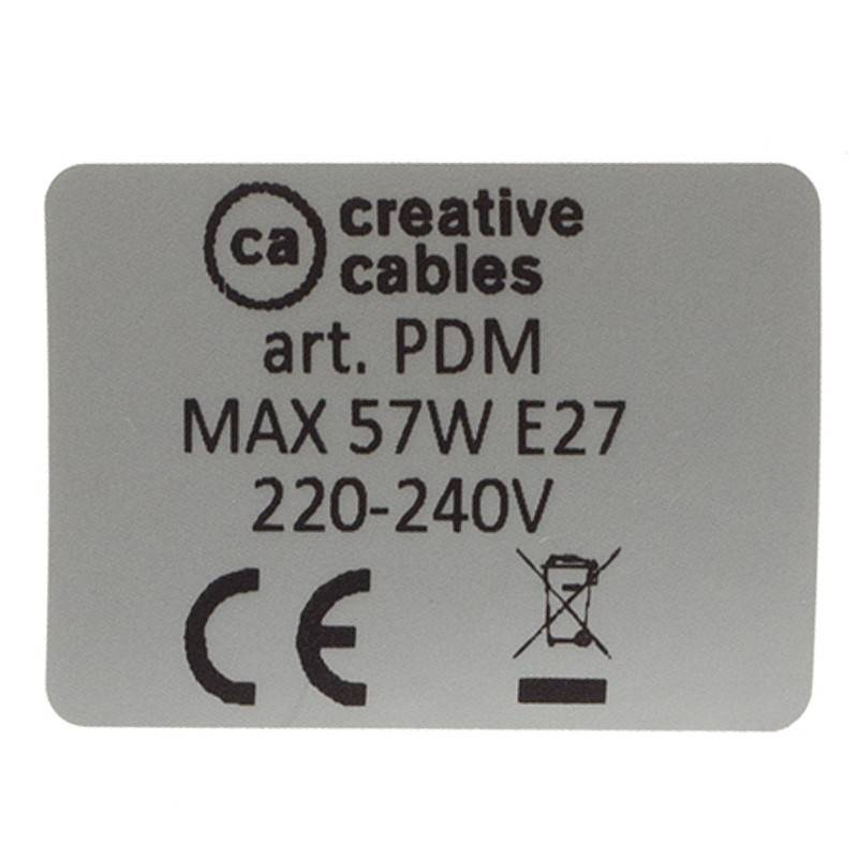 Pendel per paralume, lampada sospensione cavo tessile Pixel Verde RX05