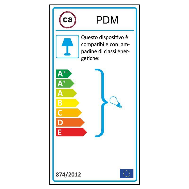 Pendel singolo, lampada sospensione cavo tessile Pixel Ghiaccio RX04
