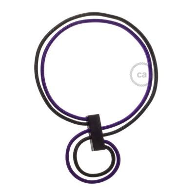 Collana Infinity regolabile bicolore Viola RM14 e Nero RM04.