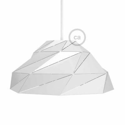 Paralume Nuvola in metallo bianco lucido con portalampada E27