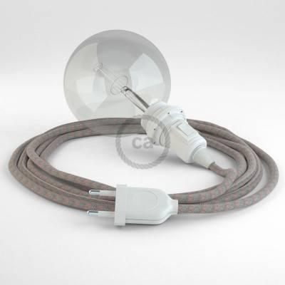 Configura il tuo Snake per paralume Stripes Rosa Antico RD51 e porta la luce dove vuoi tu.