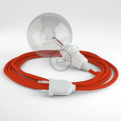 Configura il tuo Snake per paralume Effetto Seta Arancione RM15 e porta la luce dove vuoi tu.