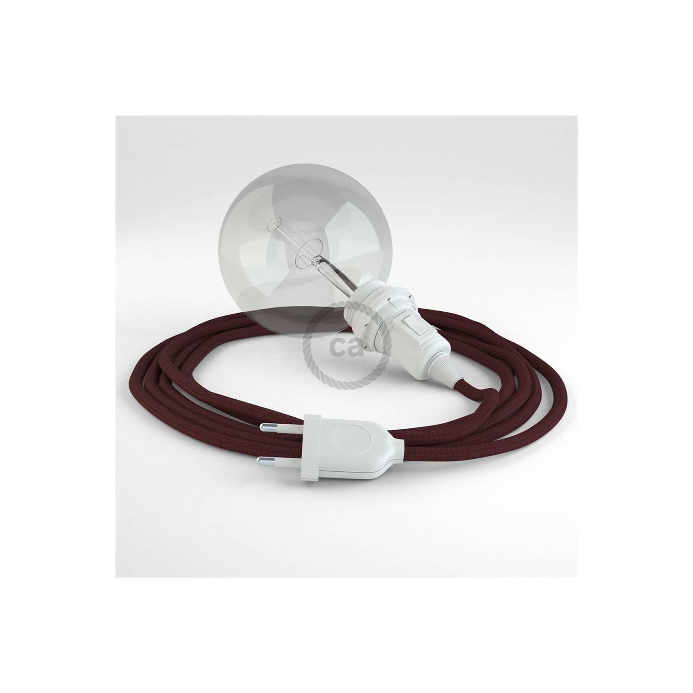 Configura il tuo Snake per paralume Effetto Seta Bordeaux RM19 e porta la luce dove vuoi tu.