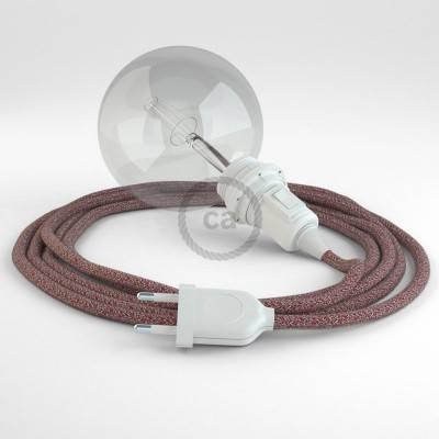 Configura il tuo Snake per paralume Lino Naturale Glitterato Rosso RS83 e porta la luce dove vuoi tu.