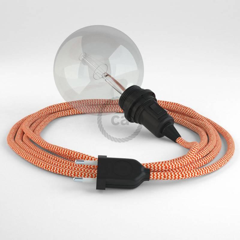 Configura il tuo Snake per paralume ZigZag Arancione RZ15 e porta la luce dove vuoi tu.