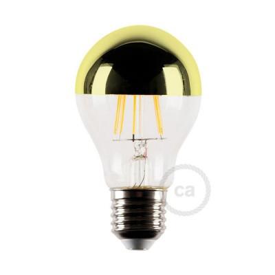 Lampadina LED mezza sfera oro 4W E27 2700K