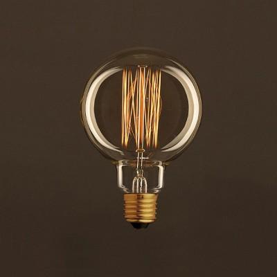 Lampadina Vintage Dorata Globo G95 Filamento di Carbonio a Gabbia 30W E27 Dimmerabile 2000K