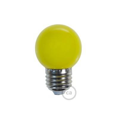 Lampadina LED Globetta G45 Decorativa 1W E27 2700K - Colore Giallo