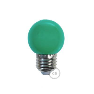 Lampadina LED Globetta G45 Decorativa 1W E27 2700K - Colore Verde