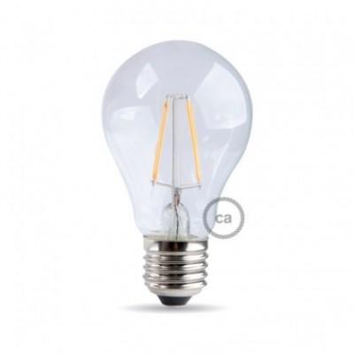 Lampadina filamento Led Goccia 8W E27 Chiara