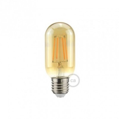 Lampadina Dorata Valvola LED T45 5W E27 Dimmerabile 2000K