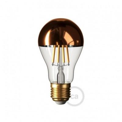 Lampadina LED Goccia A60 Mezza Sfera Rame 7W E27 Dimmerabile 2700K