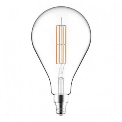 Lampadina Trasparente LED XXL Pera PS160 Doppio Filamento Dritto 11W E27 Dimmerabile 2700K