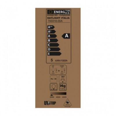 Lampadina LED Edison ST64 Linea Croissant Dorata con Filamento a Spirale 5W E27 Dimmerabile 2000K