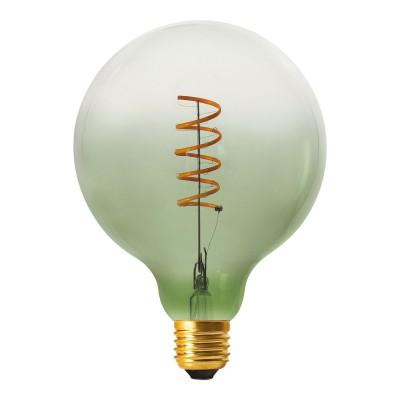Lampadina LED Globo G125 linea Pastel Olive Green filamento Spirale 5W E27 Dimmerabile 2200K
