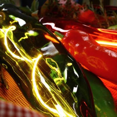 Lampadina LED XL Peperone Verde linea Kitchen filamento a spirale 5W E27 Dimmerabile 2500K