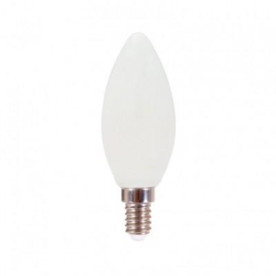 Lampadina filamento Led Oliva Milky 6W E14 2700K