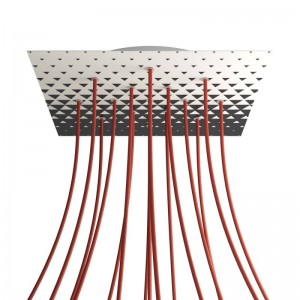 Rosone XXL Rose-One quadrato, 400 mm con 15 fori e 4 fori laterali - PROMO