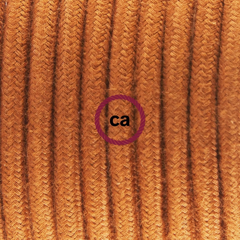 Pendel singolo, lampada sospensione cavo tessile Cotone Daino RC23