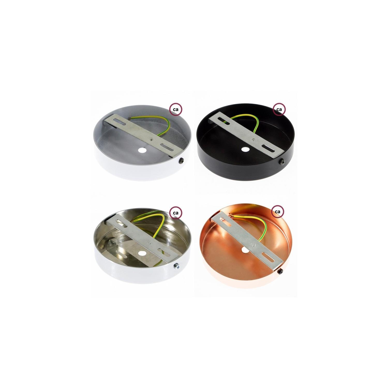 Pendel singolo, lampada sospensione cavo tessile Lino Naturale Antracite RN03
