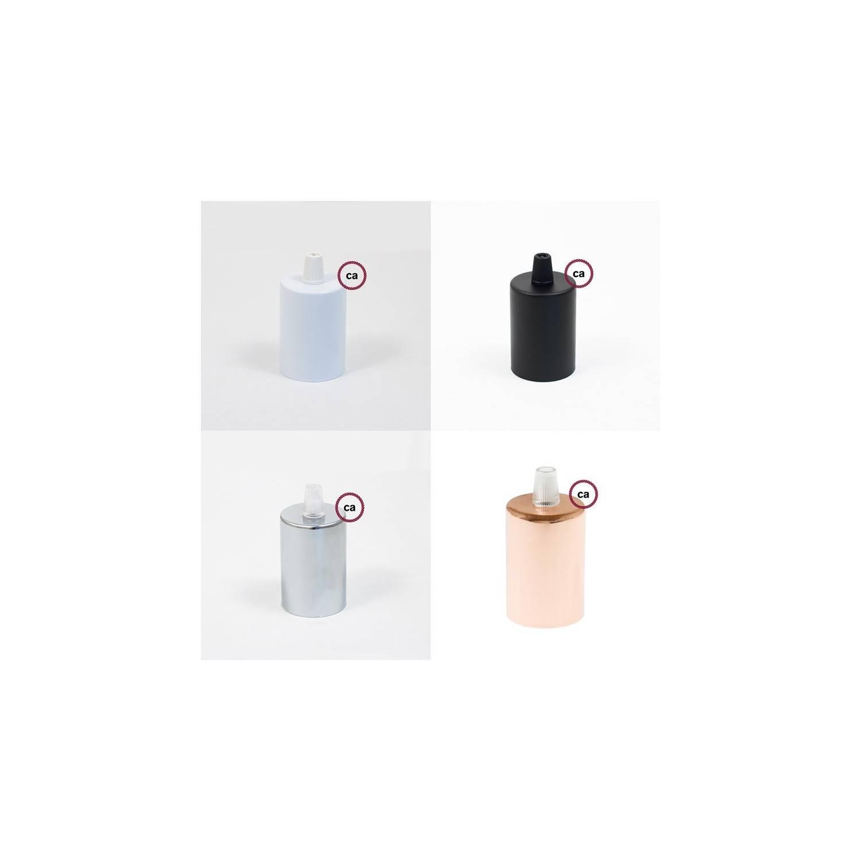 Pendel singolo, lampada sospensione cavo tessile Glitterato Bianco RL01