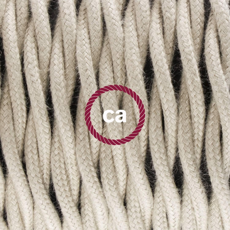 Pendel singolo, lampada sospensione cavo tessile Cotone Tortora TC43