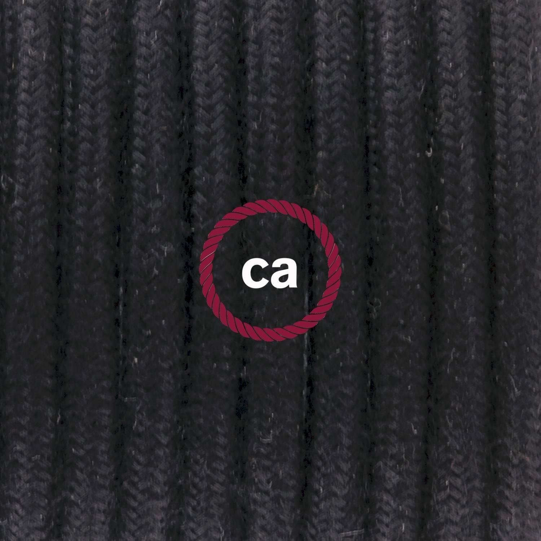 Pendel per paralume, lampada sopensione cavo tessile Cotone Nero RC04
