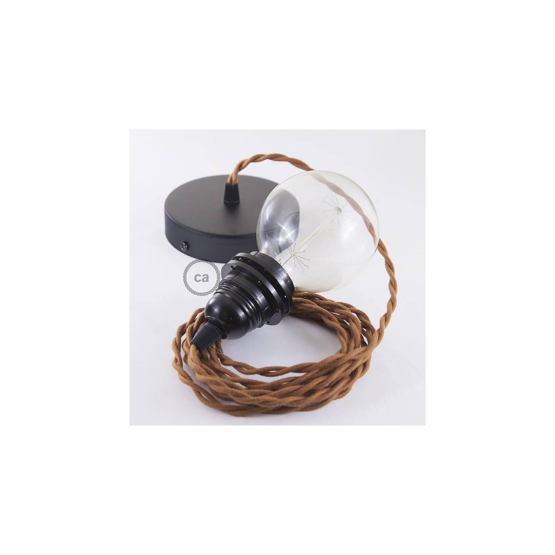 Pendel per paralume, lampada sospensione cavo tessile Cotone Daino TC23