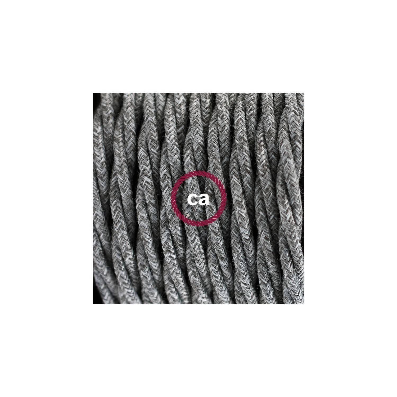 Pendel per paralume, lampada sospensione cavo tessile Lino Naturale Grigio TN02