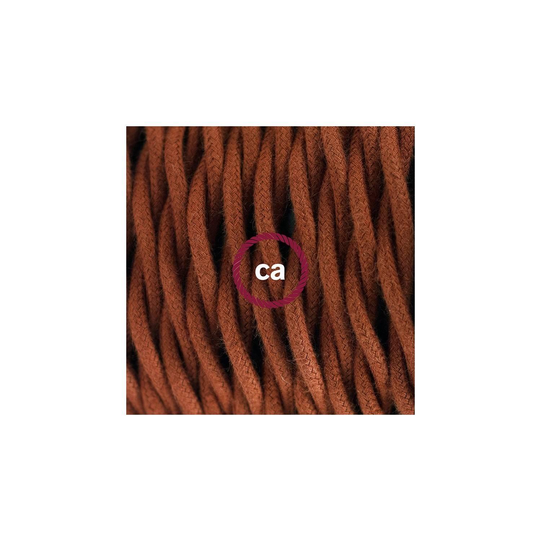 Pendel in porcellana, lampada sospensione cavo tessile Cotone Daino TC23