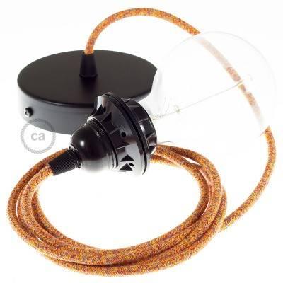 Pendel per paralume, lampada sospensione cavo tessile Cotone Indian Summer RX07
