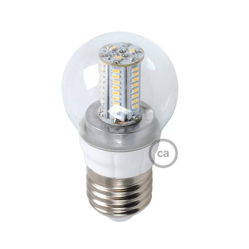 Lampadina led sfera 4w e27 for Lampadina e27 led