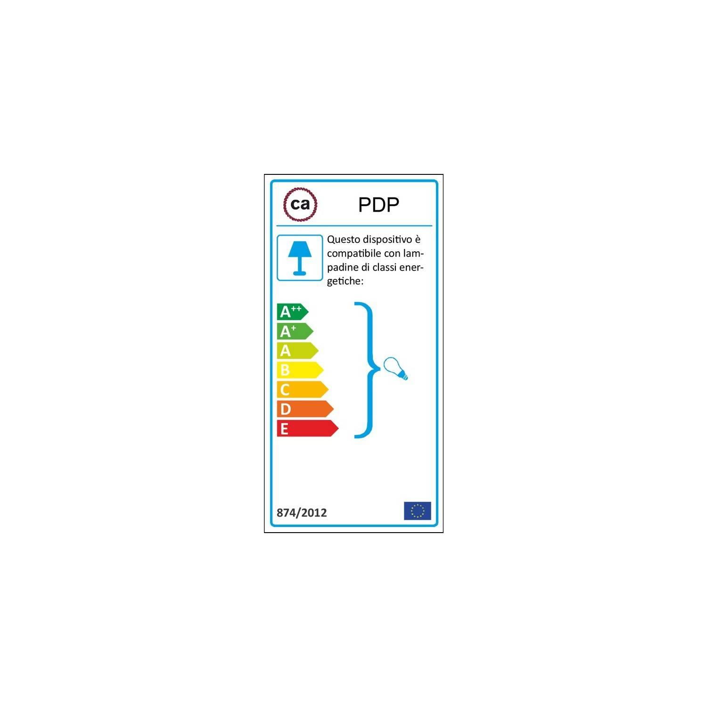 Pendel in porcellana, lampada sospensione cavo tessile Pixel Ghiaccio RX04