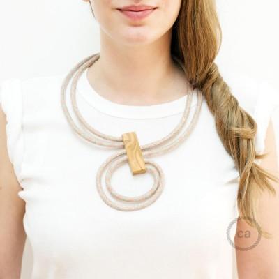 Collana Infinity regolabile bicolore Rosa Antico RD61 e Rosa Antico RD51.