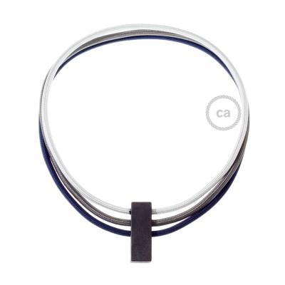 Collana Circles colori: Argento RM02, Grigio Scuro RM26 e Blu scuro RM20.