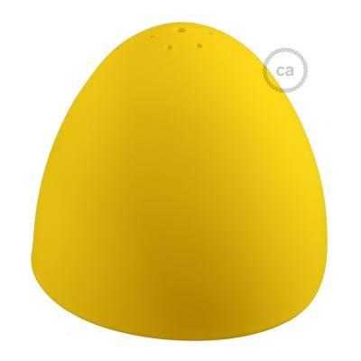 Paralume in silicone giallo completo di diffusore e serracavo. Diametro 25 cm.