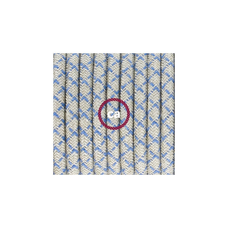 Cablaggio per lampada, cavo RD65 Losanga Blu Steward 1,80 m. Scegli il colore dell'interuttore e della spina.
