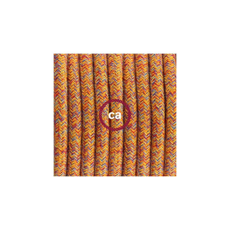 Cablaggio per lampada, cavo RX07 Cotone Indian Summer 1,80 m. Scegli il colore dell'interuttore e della spina.