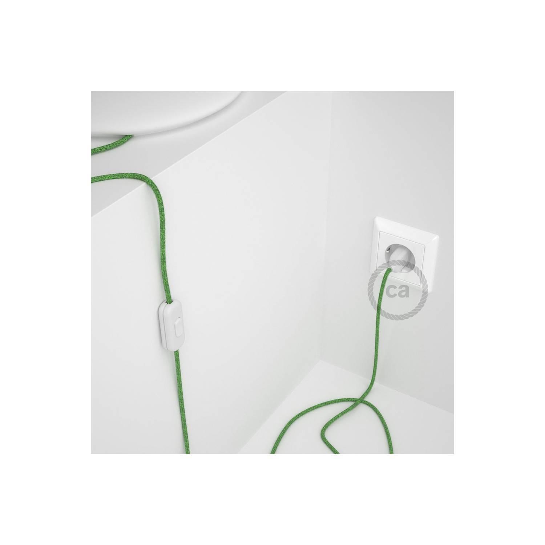 Cablaggio per lampada, cavo RX08 Cotone Bronte 1,80 m. Scegli il colore dell'interuttore e della spina.