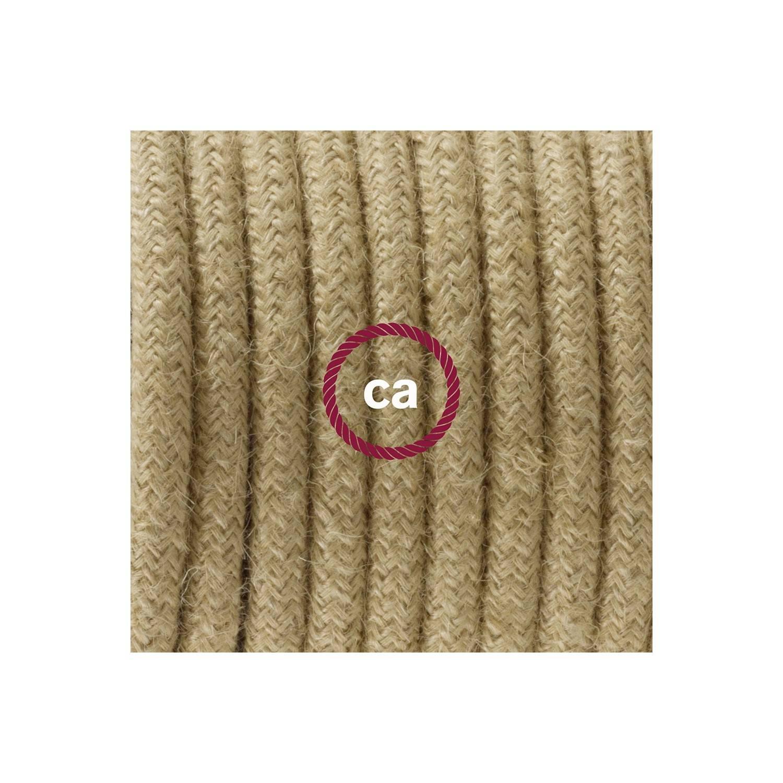 Cablaggio per lampada, cavo RN06 Juta 1,80 m. Scegli il colore dell'interuttore e della spina.
