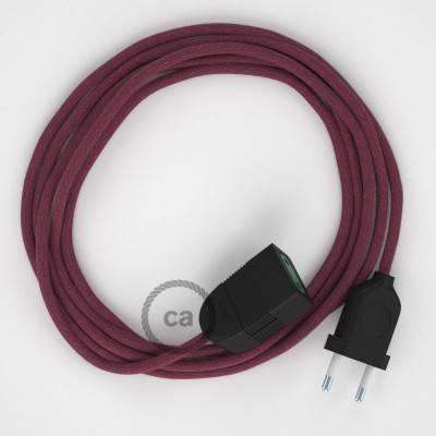 Prolunga elettrica con cavo tessile RC32 Cotone Vinaccia 2P 10A Made in Italy.