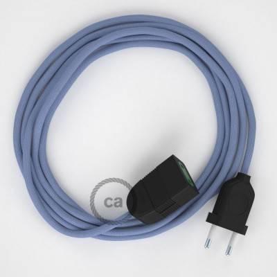 Prolunga elettrica con cavo tessile RM07 Effetto Seta Lilla 2P 10A Made in Italy.
