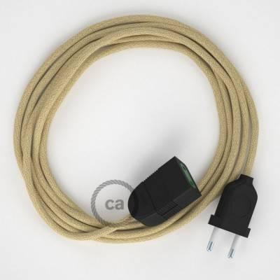 Prolunga elettrica con cavo tessile RN06 Juta 2P 10A Made in Italy.