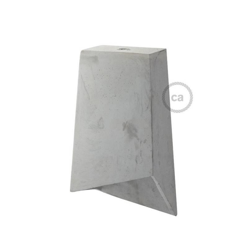 Paralume in cemento Prisma completo di serracavo e portalampada E27