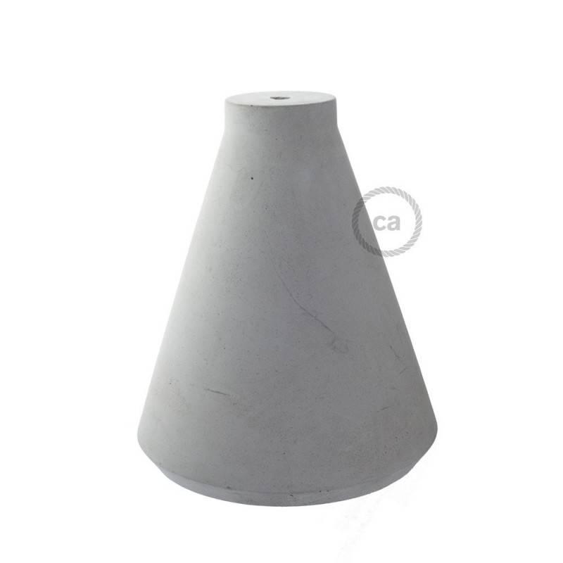 Paralume in cemento Imbuto completo di serracavo e portalampada E27